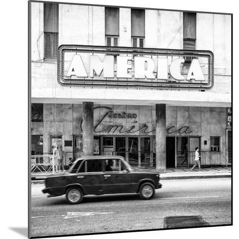 Cuba Fuerte Collection SQ BW - Teatro America in Havana-Philippe Hugonnard-Mounted Photographic Print