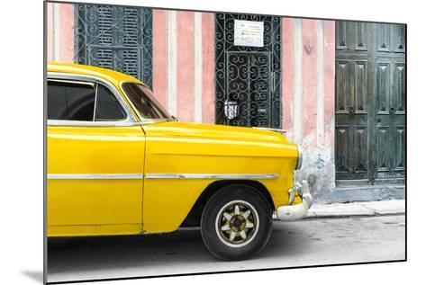 Cuba Fuerte Collection - Havana Yellow Car-Philippe Hugonnard-Mounted Photographic Print