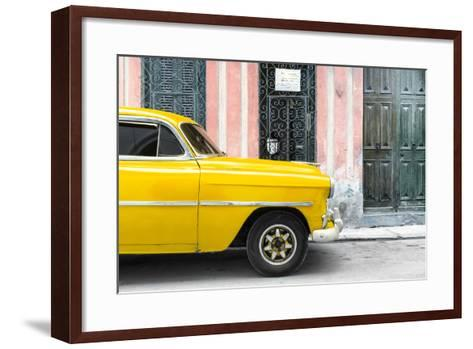 Cuba Fuerte Collection - Havana Yellow Car-Philippe Hugonnard-Framed Art Print