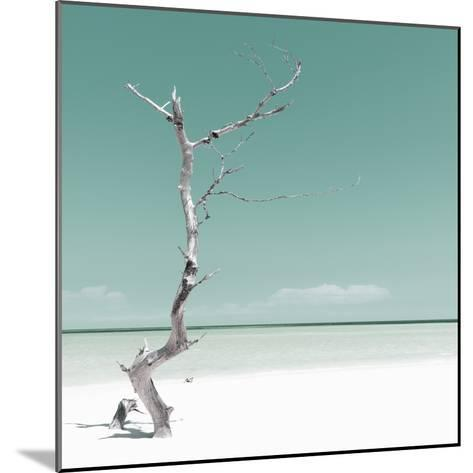 Cuba Fuerte Collection SQ - Alone on the White Sandy Beach - Pastel Green-Philippe Hugonnard-Mounted Photographic Print