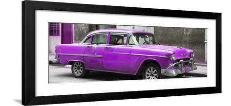 Cuba Fuerte Collection Panoramic - Purple Chevy-Philippe Hugonnard-Framed Art Print