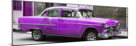 Cuba Fuerte Collection Panoramic - Purple Chevy-Philippe Hugonnard-Mounted Photographic Print
