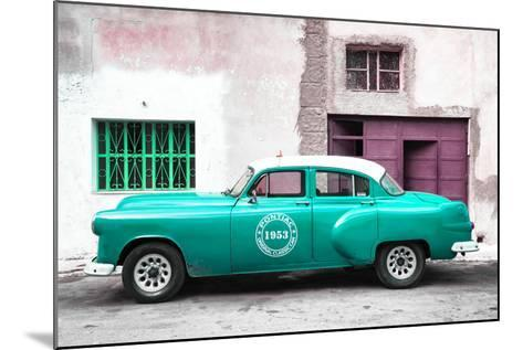 Cuba Fuerte Collection - Turquoise Pontiac 1953 Original Classic Car-Philippe Hugonnard-Mounted Photographic Print