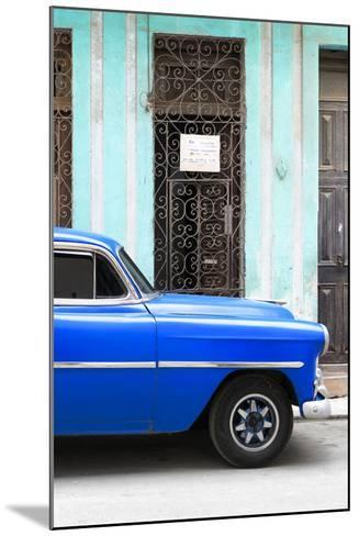 Cuba Fuerte Collection - Blue Classic Car-Philippe Hugonnard-Mounted Photographic Print