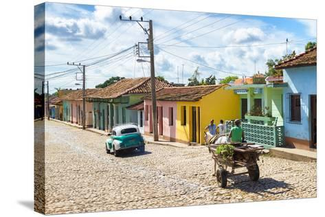 Cuba Fuerte Collection - Trinidad Colorful Street Scene VI-Philippe Hugonnard-Stretched Canvas Print