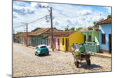 Cuba Fuerte Collection - Trinidad Colorful Street Scene VI-Philippe Hugonnard-Mounted Photographic Print