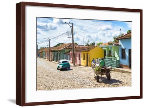 Cuba Fuerte Collection - Trinidad Colorful Street Scene VI-Philippe Hugonnard-Framed Art Print