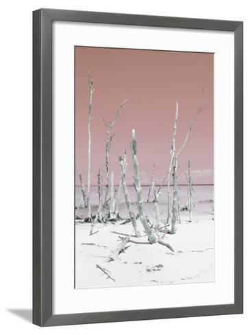 Cuba Fuerte Collection - Ocean Wild Nature III - Pastel Coral-Philippe Hugonnard-Framed Art Print