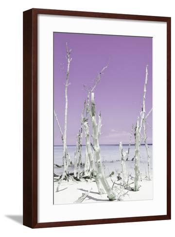 Cuba Fuerte Collection - Ocean Wild Nature II - Pastel Purple-Philippe Hugonnard-Framed Art Print
