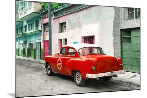 Cuba Fuerte Collection - Red Taxi Pontiac 1953-Philippe Hugonnard-Mounted Photographic Print