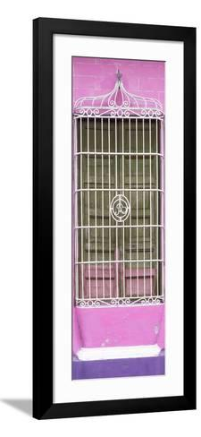Cuba Fuerte Collection Panoramic - Cuban Pink Window-Philippe Hugonnard-Framed Art Print
