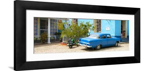 Cuba Fuerte Collection Panoramic - Blue Trinidad-Philippe Hugonnard-Framed Art Print