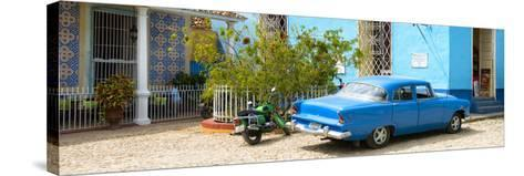 Cuba Fuerte Collection Panoramic - Blue Trinidad-Philippe Hugonnard-Stretched Canvas Print
