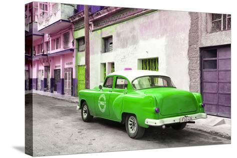 Cuba Fuerte Collection - Green Taxi Pontiac 1953-Philippe Hugonnard-Stretched Canvas Print