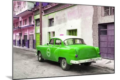 Cuba Fuerte Collection - Green Taxi Pontiac 1953-Philippe Hugonnard-Mounted Photographic Print