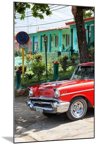 Cuba Fuerte Collection - Red Classic Car in Vinales II-Philippe Hugonnard-Mounted Photographic Print