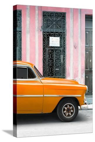Cuba Fuerte Collection - Orange Classic Car-Philippe Hugonnard-Stretched Canvas Print