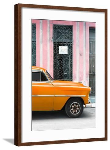 Cuba Fuerte Collection - Orange Classic Car-Philippe Hugonnard-Framed Art Print
