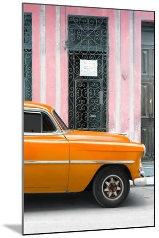 Cuba Fuerte Collection - Orange Classic Car-Philippe Hugonnard-Mounted Photographic Print