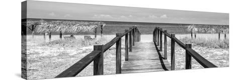 Cuba Fuerte Collection Panoramic BW - Way to the Beach-Philippe Hugonnard-Stretched Canvas Print
