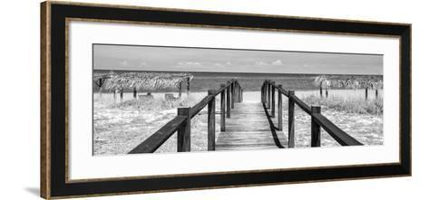 Cuba Fuerte Collection Panoramic BW - Way to the Beach-Philippe Hugonnard-Framed Art Print