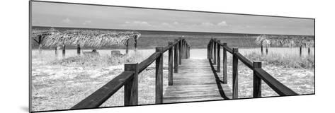 Cuba Fuerte Collection Panoramic BW - Way to the Beach-Philippe Hugonnard-Mounted Photographic Print