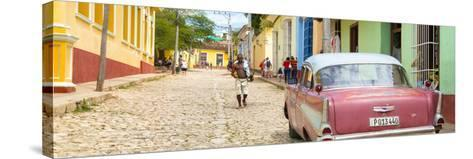 Cuba Fuerte Collection Panoramic - Colorful Street Scene in Trinidad-Philippe Hugonnard-Stretched Canvas Print