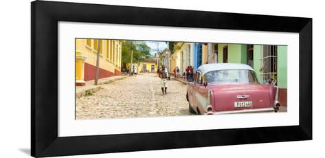 Cuba Fuerte Collection Panoramic - Colorful Street Scene in Trinidad-Philippe Hugonnard-Framed Art Print