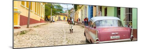 Cuba Fuerte Collection Panoramic - Colorful Street Scene in Trinidad-Philippe Hugonnard-Mounted Photographic Print