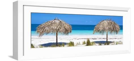 Cuba Fuerte Collection Panoramic - Beach Couple-Philippe Hugonnard-Framed Art Print