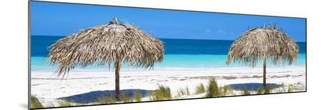 Cuba Fuerte Collection Panoramic - Beach Couple-Philippe Hugonnard-Mounted Photographic Print