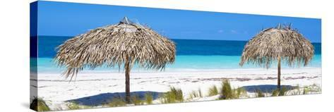 Cuba Fuerte Collection Panoramic - Beach Couple-Philippe Hugonnard-Stretched Canvas Print