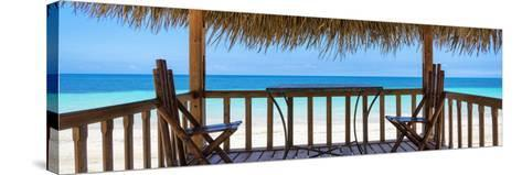 Cuba Fuerte Collection Panoramic - Paradise Beach Hut-Philippe Hugonnard-Stretched Canvas Print