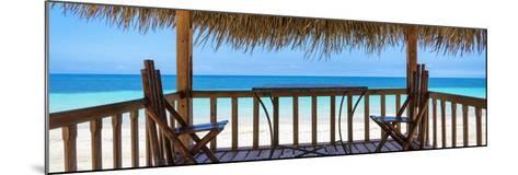 Cuba Fuerte Collection Panoramic - Paradise Beach Hut-Philippe Hugonnard-Mounted Photographic Print
