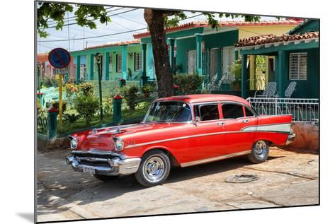 Cuba Fuerte Collection - Red Classic Car in Vinales-Philippe Hugonnard-Mounted Photographic Print