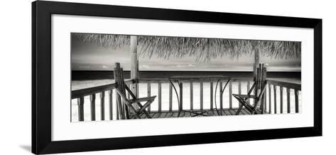 Cuba Fuerte Collection Panoramic BW - Paradise Beach Hut-Philippe Hugonnard-Framed Art Print