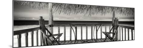 Cuba Fuerte Collection Panoramic BW - Paradise Beach Hut-Philippe Hugonnard-Mounted Photographic Print