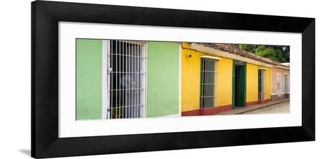 Cuba Fuerte Collection Panoramic - Colorful Street Scene II-Philippe Hugonnard-Framed Art Print