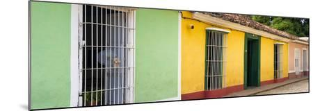 Cuba Fuerte Collection Panoramic - Colorful Street Scene II-Philippe Hugonnard-Mounted Photographic Print