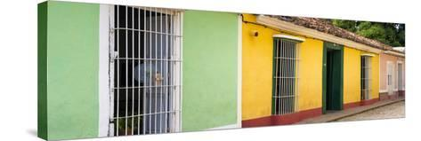 Cuba Fuerte Collection Panoramic - Colorful Street Scene II-Philippe Hugonnard-Stretched Canvas Print