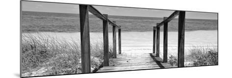 Cuba Fuerte Collection Panoramic BW - Boardwalk on the Beach II-Philippe Hugonnard-Mounted Photographic Print