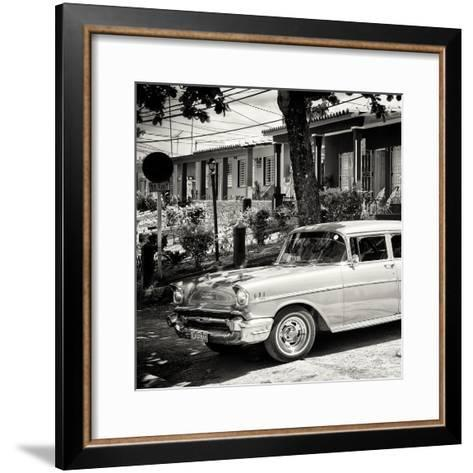 Cuba Fuerte Collection SQ BW - Classic Car in Vinales-Philippe Hugonnard-Framed Art Print
