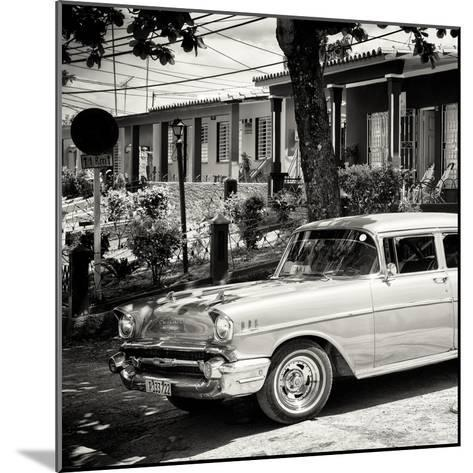 Cuba Fuerte Collection SQ BW - Classic Car in Vinales-Philippe Hugonnard-Mounted Photographic Print