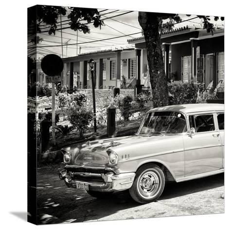 Cuba Fuerte Collection SQ BW - Classic Car in Vinales-Philippe Hugonnard-Stretched Canvas Print