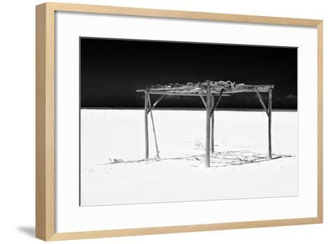 Cuba Fuerte Collection B&W - White Beach VI-Philippe Hugonnard-Framed Art Print
