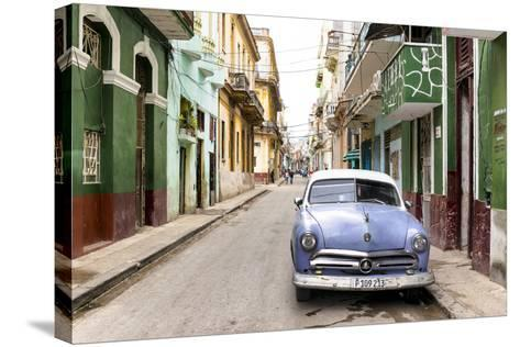 Cuba Fuerte Collection - Street Scene in Havana-Philippe Hugonnard-Stretched Canvas Print