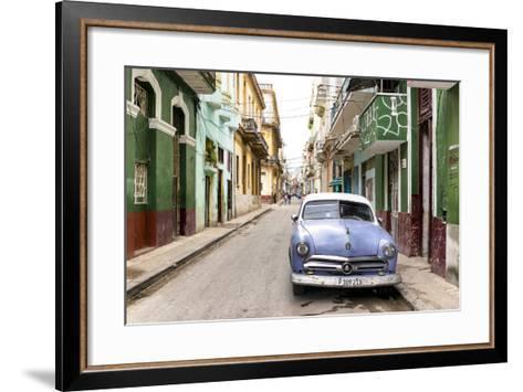 Cuba Fuerte Collection - Street Scene in Havana-Philippe Hugonnard-Framed Art Print