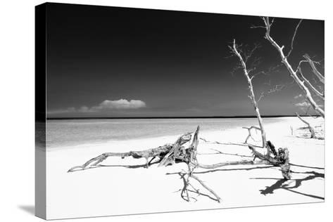 Cuba Fuerte Collection B&W - White Beach-Philippe Hugonnard-Stretched Canvas Print