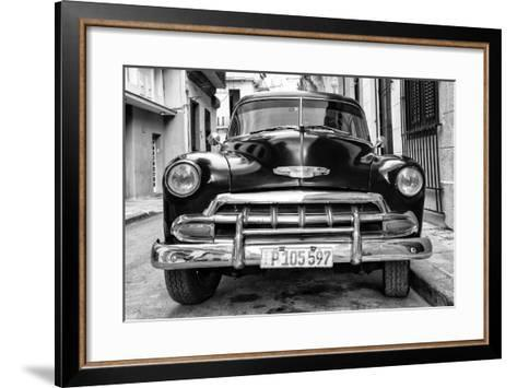 Cuba Fuerte Collection B&W - Old Classic Chevy III-Philippe Hugonnard-Framed Art Print