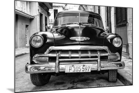 Cuba Fuerte Collection B&W - Old Classic Chevy III-Philippe Hugonnard-Mounted Photographic Print